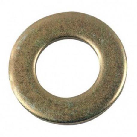 Rondelle plate étroite M10 mm Z Zinguée bichromatée - Boite de 200 pcs - DIAMWOOD 41001003B
