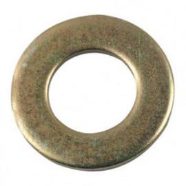 Rondelle plate moyenne M7 mm M Zinguée bichromatée - Boite de 200 pcs - Diamwood 42000703B