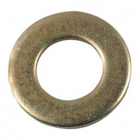 Rondelle plate moyenne M16 mm M Zinguée bichromatée - Boite de 100 pcs - fixtout 42001603B