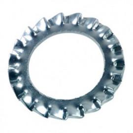 Rondelle denture extérieure M4 mm AZ Zinguée - Boite de 1000 pcs - fixtout 50000402B