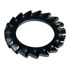 Rondelle denture extérieure M4 mm Zinguée bichromatée - Boite de 1000 pcs - fixtout 50000403B