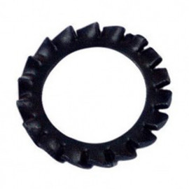 Rondelle denture extérieure M10 mm AZ Brut - Boite de 1000 pcs - fixtout 50001001B