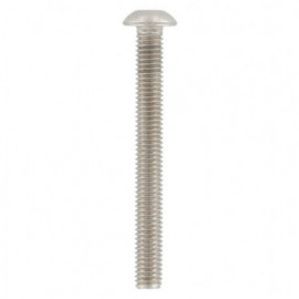 Vis métaux tête bombée 6 pans creux 4 x 25 mm BHC INOX A2 - Boite de 200 pcs - fixtout BHC04025A2