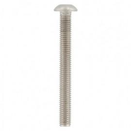 Vis métaux tête bombée 6 pans creux 8 x 80 mm BHC INOX A2 - Boite de 100 pcs - Diamwood BHC08080A2