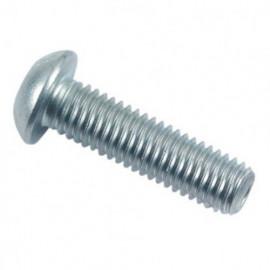 Vis métaux tête bombée 6 pans creux 8 x 25 mm BHC Zinguée - Boite de 100 pcs - fixtout BHC1090802502B