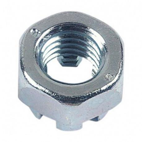 Ecrou hexagonal à créneau dégagé M10 mm Zingué - Boite de 100 pcs - DIAMWOOD EHK1002B