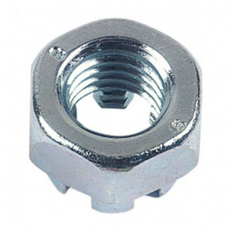 Ecrou hexagonal à créneau dégagé M14 mm Zingué - Boite de 50 pcs - DIAMWOOD EHK1402B