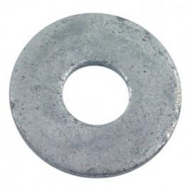 Rondelle plate pour boulon de charpente M20 x 55 x 6 mm Galvanisée - Boite de 25 pcs - fixtout RC20X55X609B