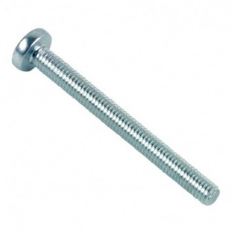 Vis métaux tête cylindrique large Pozidriv 3 x 6 mm INOX A2 - Boite de 500 pcs - fixtout VMCC03006A2