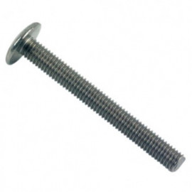 Vis poêlier tête ronde large Fendue 4 x 35 mm INOX A2 - Boite de 200 pcs - fixtout VRL04035A2