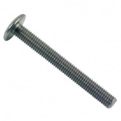 Vis poêlier tête ronde large Fendue 8 x 40 mm INOX A2 - Boite de 100 pcs - DIAMWOOD VRL08040A2