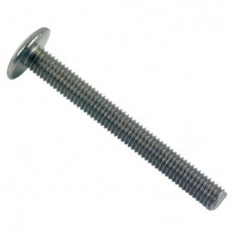 Vis poêlier tête ronde large Fendue 8 x 90 mm INOX A2 - Boite de 100 pcs - DIAMWOOD VRL08090A2