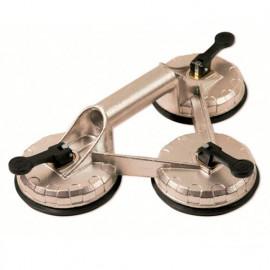 Ventouse triple en aluminium 100 kg - 30028 - Piher