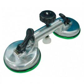 Ventouse double en aluminium 60 kg - 30107 - Piher