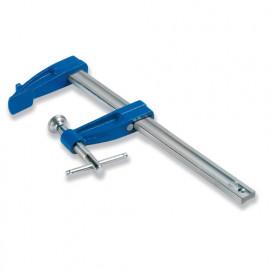 Serre-joint à vis 25 cm section 18 x 7 mm saillie de 60 mm et manche en croix - 2011025 - Urko