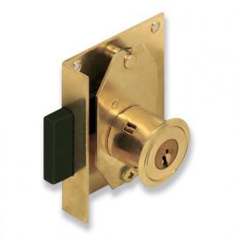 Serrure à cylindre pour meubles boîte équerre 57 mm D 20 mm - 7102020/40 - Urko