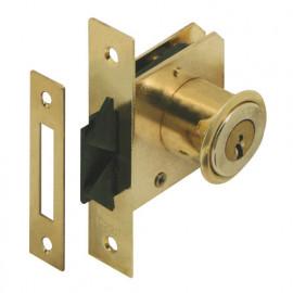 Serrure à cylindre pour portes coulissantes à superposer 57 mm D 20 mm - 7106025 - Urko