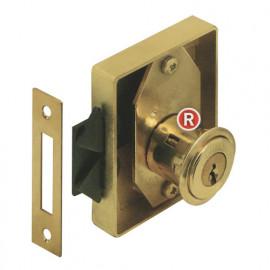 Serrure à cylindre pour portes coulissantes à emboutir 70 x 15 mm D 20 mm - 7108025 - Urko