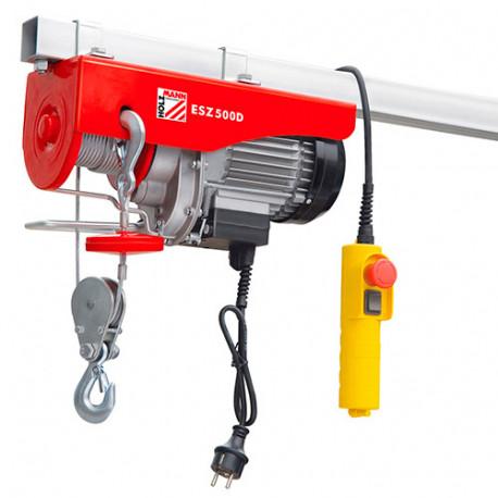 Palan électrique 900 W 230 V charge max 500 kg - ESZ500D - Holzmann
