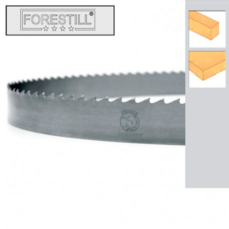Lame de scie à ruban bois PAE 3500 x 10 x 0,6 x 6 mm - Acier Forestill - Forézienne
