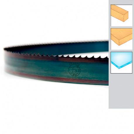 Lame de scie à ruban bois PAE 1490 x 10 x 0,36 x 4 mm - Acier trempé Flexback - Forézienne