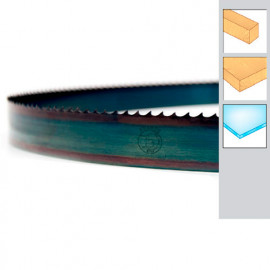 Lame de scie à ruban bois PAE 2490 x 6 x 0,5 x 4 mm - Acier trempé Flexback - Forézienne