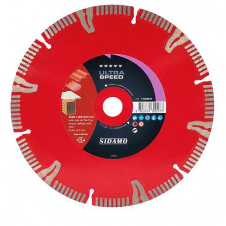 Disque diamant ULTRA SPEED D. 230 x 22,23 x H 10 mm Tuile / Brique - 11130017 - Sidamo