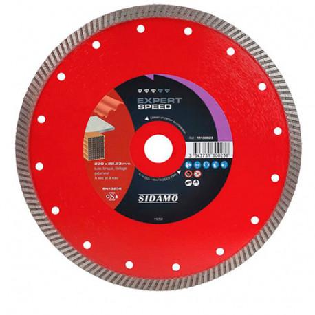 Disque diamant EXPERT SPEED D. 230 x 22,23 x H 10 mm Tuile / Brique - 11130023 - Sidamo