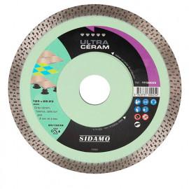 Disque diamant ULTRA CÉRAM D. 125 x 22,23 x H 10 mm Grès céram / faïence - 11130025 - Sidamo