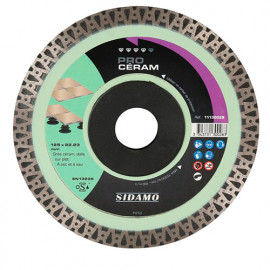 Disque diamant PRO CÉRAM D. 125 x 22,23 x H 10 mm Grès céram / dalle - 11130028 - Sidamo