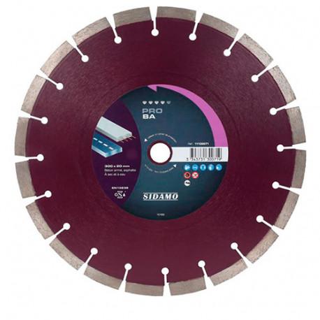 Disque diamant PRO BA D. 300 x 25,4 x H 12 mm Béton armé / Asphalte - 11130072 - Sidamo