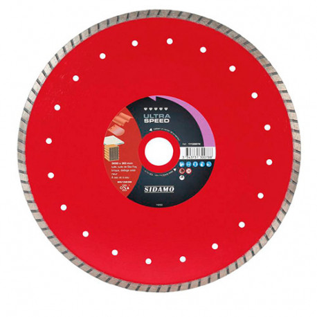 Disque diamant ULTRA SPEED D. 300 x 30-25,4 x H 8,5 mm Tuile / Brique - 11130078 - Sidamo