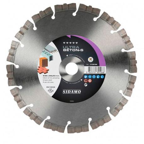Disque diamant ULTRA BÉTON-S D. 230 x 22,23 x H 12 mm Béton / Béton armé - 11130106 - Sidamo