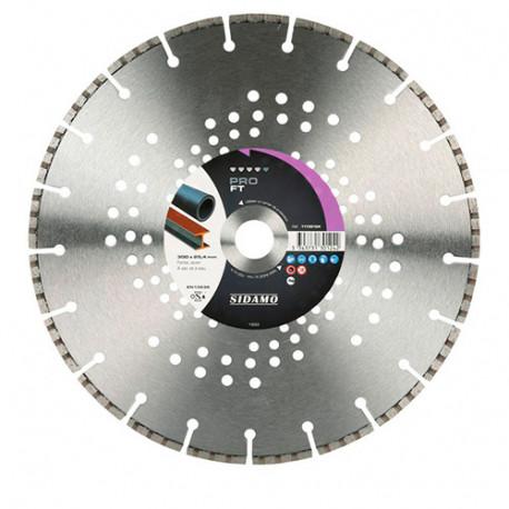 disque diamant pro ft d 350 x 25 4 x h 5 3 mm fonte acier 11130125 sidamo. Black Bedroom Furniture Sets. Home Design Ideas