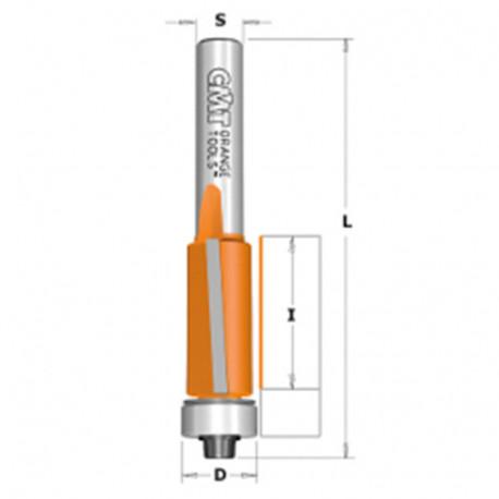 Fraise à affleurer avec roulement, angle de coupe -5° D. 19 x Lu. 16 x Q. 6 mm - 706.190.11 - CMT