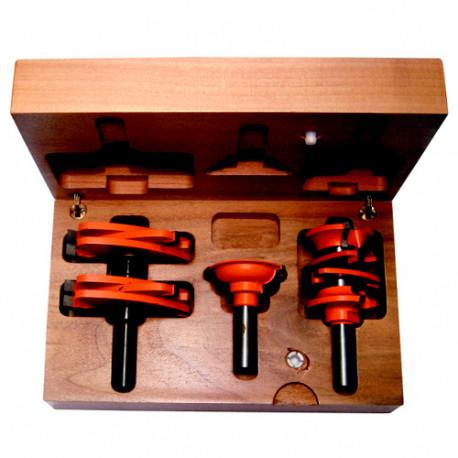 Coffret de 3 fraises carbure pour portes Q. 12 mm - 900.527.11 - CMT