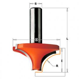 Fraise à arrondir quart de rond 2 tranchants D. 31,7 x Lu. 15,8 x Q. 8 x R. 9,5 mm - 927.095.11 - CMT