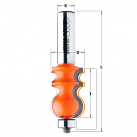 Fraise pour corniches à 2 coupes avec roulement D. 3,8 x Lu. 35 x Q. 12 mm - 955.901.11 - CMT