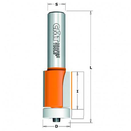 Fraise à affleurer sur matériaux composites avec roulement D. 19,05 x Lu. 25,4 x Q. 12 mm - 980.571.11 - CMT
