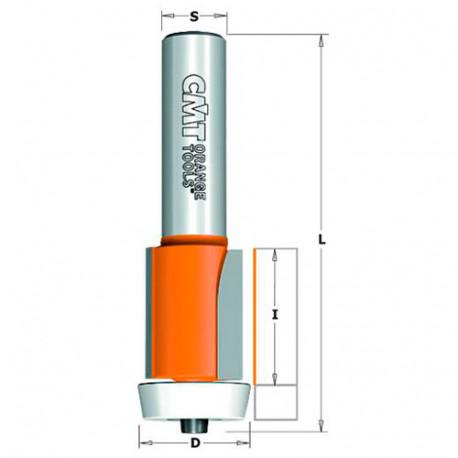 Fraise à affleurer sur matériaux composites avec roulement D. 22 x Lu. 25,4 x Q. 12 mm - 980.572.11 - CMT