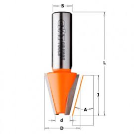 Fraise à chanfreiner pour matériaux composites 15° D. 23 mm x Lu. 25,4 x Q. 12 mm - 981.521.11 - CMT