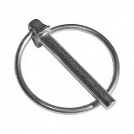 Goupille Clips D. 6 mm Zinguée blanc - Boite de 100 pcs - DIAMWOOD CLI0602B