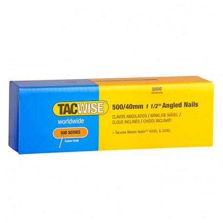 Boîte de 5000 clous à tête plate galvanisés en bande inclinés 26° D. 1,5 x 40 mm - Tacwise - 0827