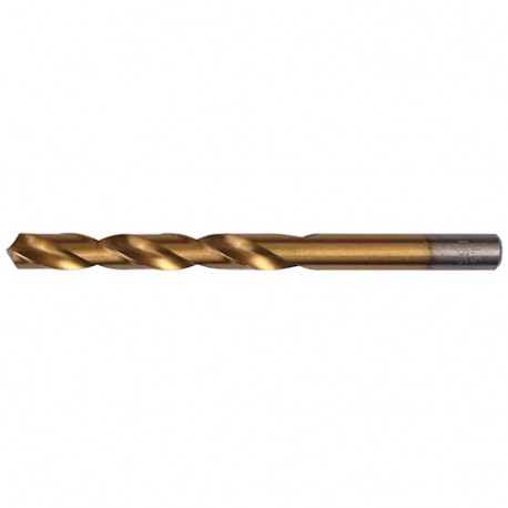 5 forets à métaux DIN 338 HSS-TiN D. 8.0 x Lu. 75 x Lt. 117 mm - AT000800 - Labor