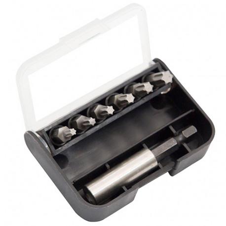 Coffret 7 pcs de vissage Torx T10 à T40 + porte embouts magnétique - IZZ00030 - Labor