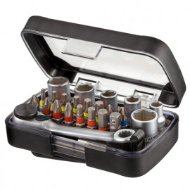 Coffret 24 pcs de vissage + porte embouts magnétique - IZZ00160 - Labor