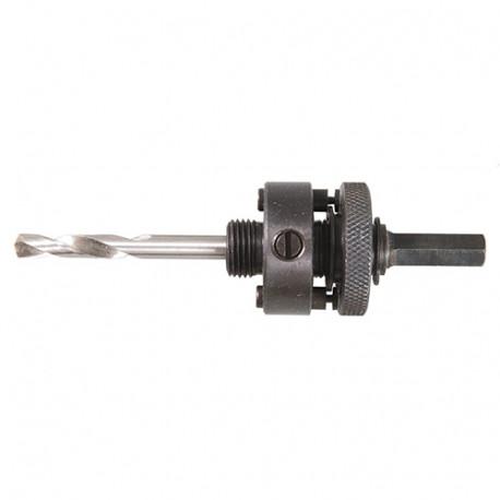 Mandrin porte-trépans rapide LA6 Q. hexagonale 9.5 mm pour trépans BiM de 32 à 210 mm - JA105546 - Labor