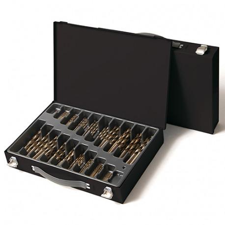 Coffret 190 pcs de forets métaux DIN 338 HSS M35 5% Cobalt D. 1 à 10 mm - KA012780 - Labor