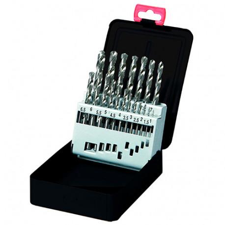 Coffret 19 pcs de forets métaux Pro DIN 338 HSS D. 1 à 10 mm - KA013190 - Labor