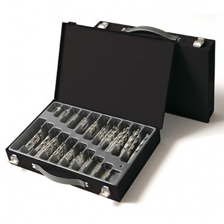 Coffret 50 pcs de forets métaux Pro DIN 338 HSS D. 1 à 5,9 mm - KA013500 - Labor